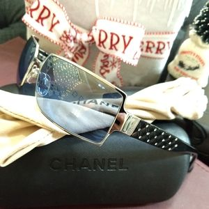 RARE Chanel 4103-BQuilted Crystal Sunglasses